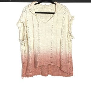 Moth Ombre Fringed Beachside Hoodie